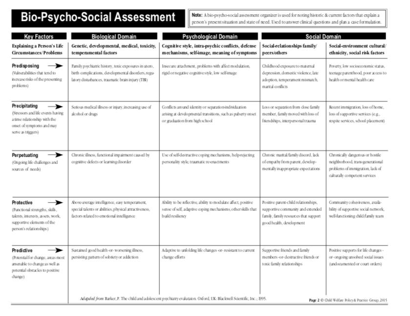 Bio-Psycho-Social-Assessment